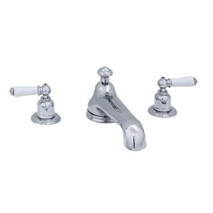 3735 Perrin & Rowe Three Hole Bath Tap Set With Low Profile Spout Lever